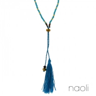 COLLIER POMPON TURQUOISE