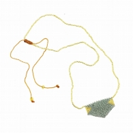 COLLIER TUKA OR/GRIS