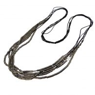 Collier 4 rangs m�tal anthracite